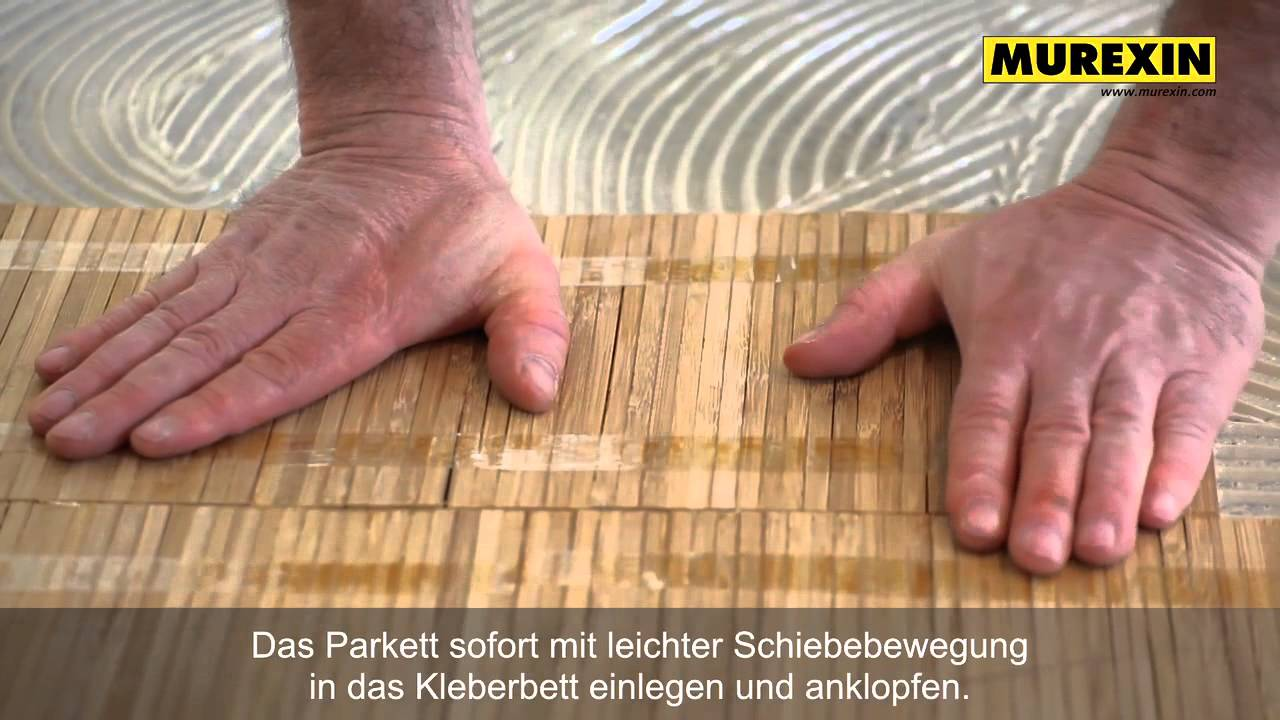 murexin perfekte parkettverlegung verarbeitungsschritte youtube. Black Bedroom Furniture Sets. Home Design Ideas