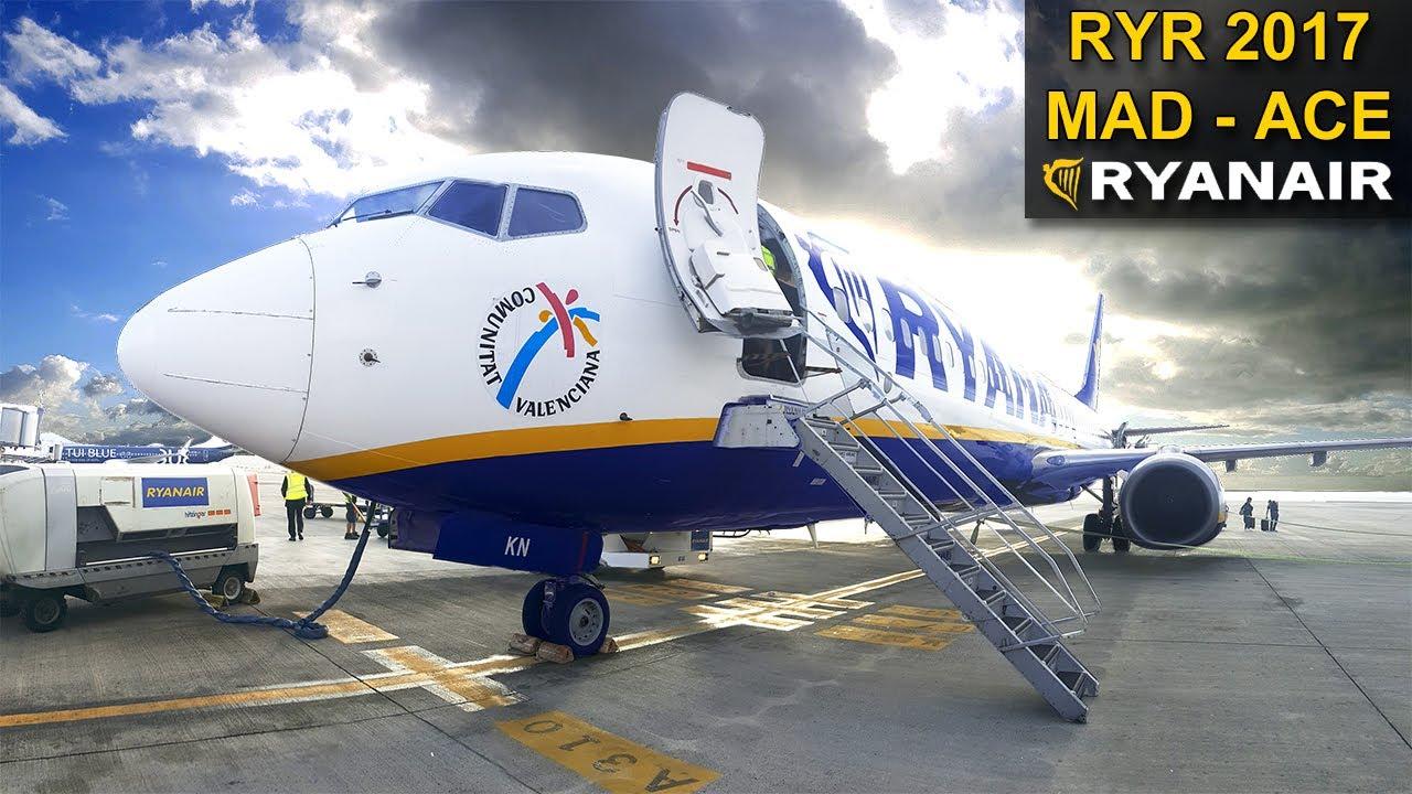 Trip report ryanair madrid lanzarote boeing 737 for Oficina ryanair madrid