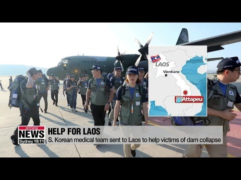 South Korean Medical Team arrives in southern Laos