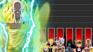 Power Level: Anime Protagonisten | Dragonball Super - One Punch Man - One Piece - Naruto...