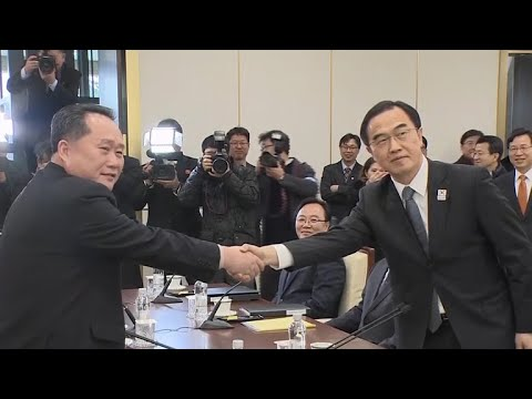 North and South Korea hold first direct talks in years