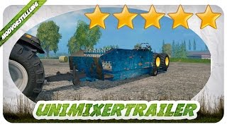 FUTTER MISCHEN MAL ETWAS ANDERS! UniMixertrailer Mod für Landwirtschafts Simulator 15