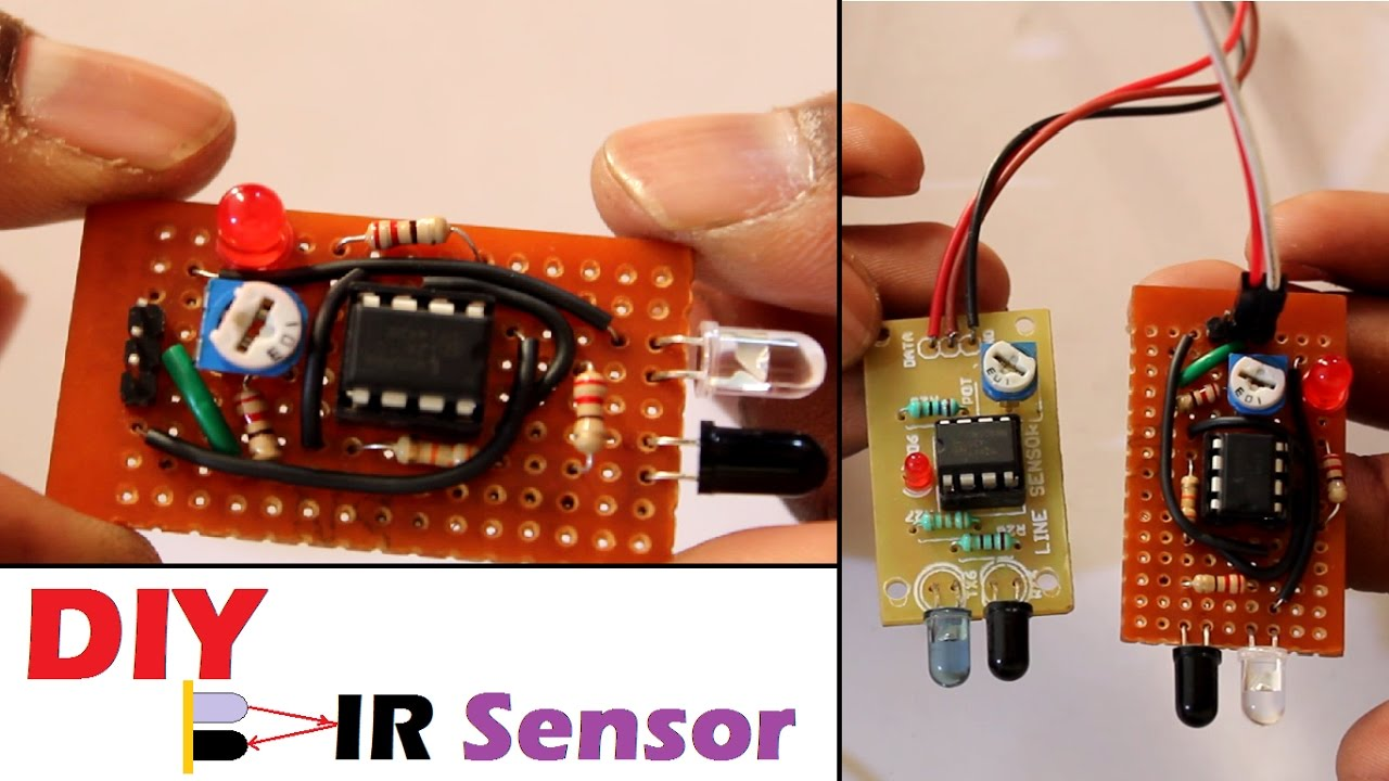 How To Build Infra Red Switch Circuit Diagram