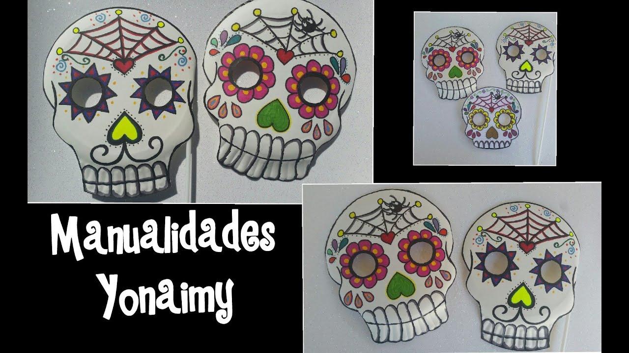 Mascaras De Calaveritas De Dia De Muertos Con Platos De Papel