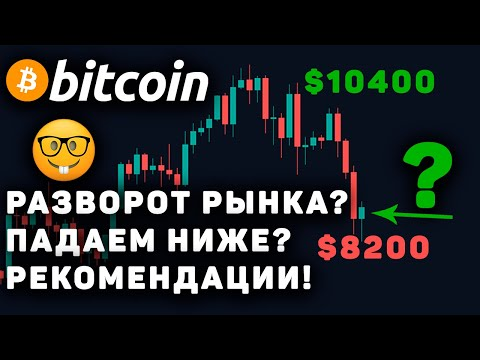 Срочно! Биткоин Падает Или Разворот? Прогноз, Курс, Обзор и Новости! Bitcoin BTC 2020! Коронавирус!
