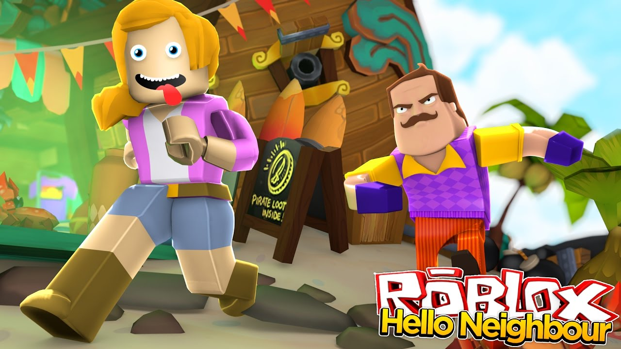 Hello Neighbor In Roblox Little Kelly Youtube