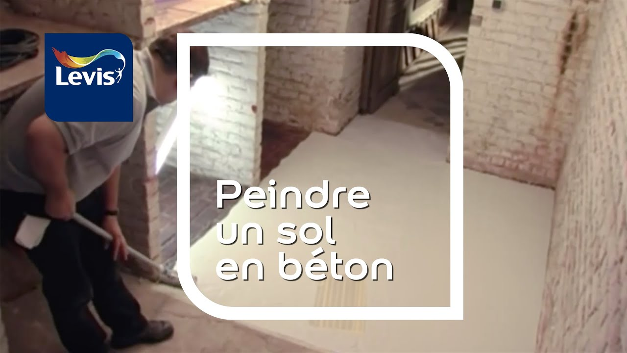 comment peindre un sol en b ton peinture sol youtube. Black Bedroom Furniture Sets. Home Design Ideas