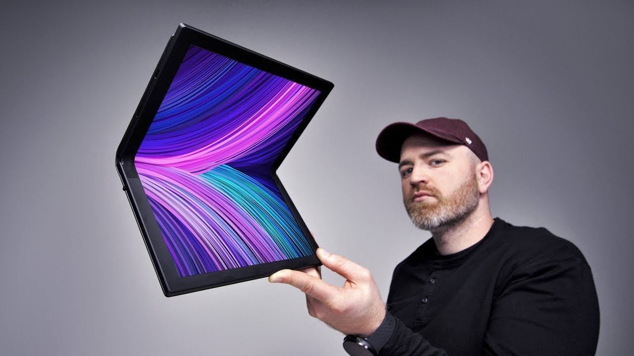 Der futuristische Lenovo Folding Screen Laptop + video