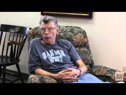 Stephen King shares his thoughts on retirement during an interview with the Bangor Daily News.