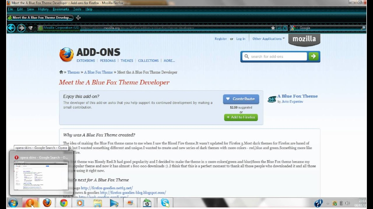 Google themes opera - How To Change Your Them Skin On Google Chrome And Firefox And Opera Rh 95