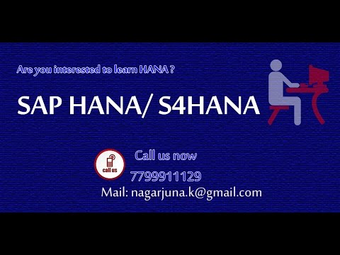 SAP HANA / S4HANA Online Training