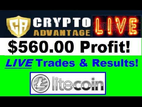 Crypto Advantage Review - LIVE Trading Action! $560.00 Profit w/ LITECOIN (MUST WATCH Results)