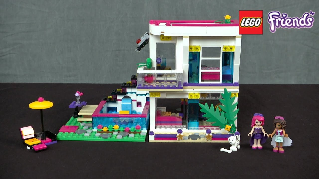 Lego Friends Livis Pop Star House From Lego Youtube