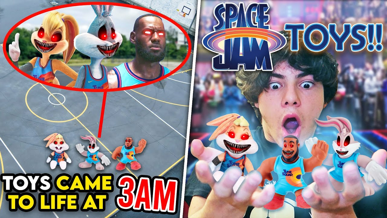 Download SPACE JAM 2 HAPPY MEAL TOYS CAUGHT ALIVE AT 3AM!! (LEBRON AND BUGS BUNNY TOYS CAME TO LIFE)