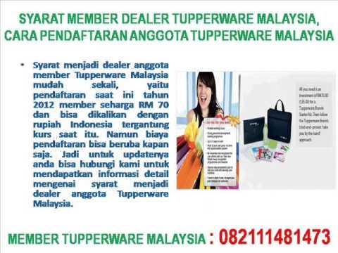 SYARAT MEMBER DEALER TUPPERWARE MALAYSIA DAN  CARA PENDAFTARANYA
