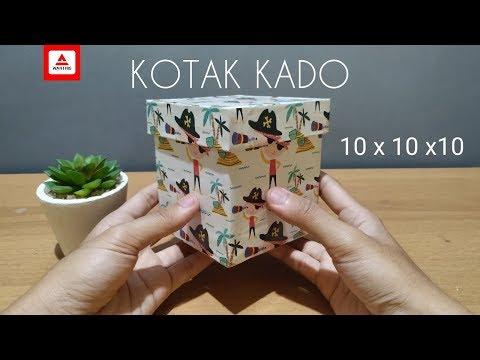 Cara Membuat Kotak Kado 10 X 10 X 10 Gift Box