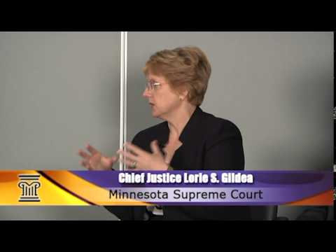 Chief Justice Lorie Gildea and State Court Administrator Jeff Shorba on the District Court Show