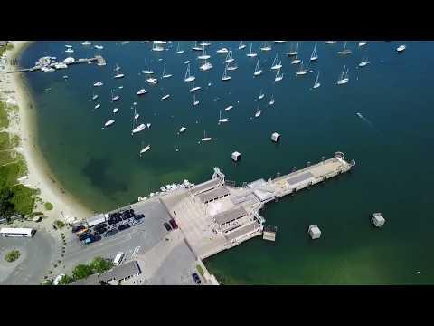 Drone footage of Martha's Vineyard Island, MA