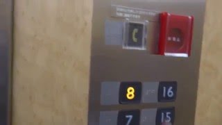 三菱エレベーター 川崎医科大学・川崎医大附属病院-メインエレベーター・中央