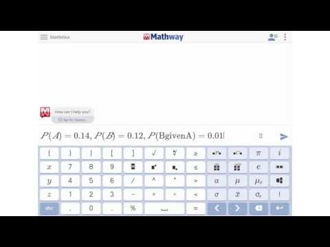 Find the Conditional Probability Using Bayes's Rule - YouTube Mathway Ed Account on