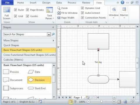 Getting Started with Microsoft Visio 2010 - Basics of Visio - YouTube