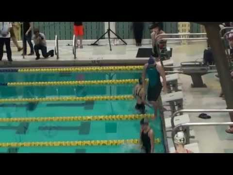 2015 Alaska State Swimming Finals 100 Back Stroke
