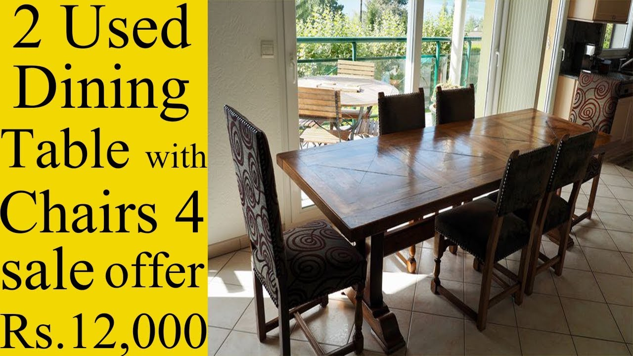 9 Used Dining Table With Chairs 9 Sale   offer time