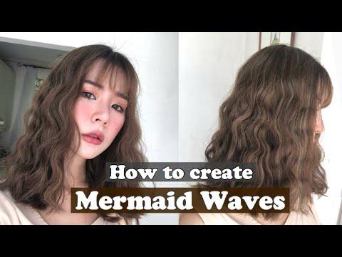 HOW TO ม้วนลอน Mermaid ง่ายๆด้วยเครื่องม้วนผมธรรมดา l Frennicha