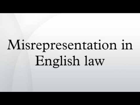 Misrepresentation in English law