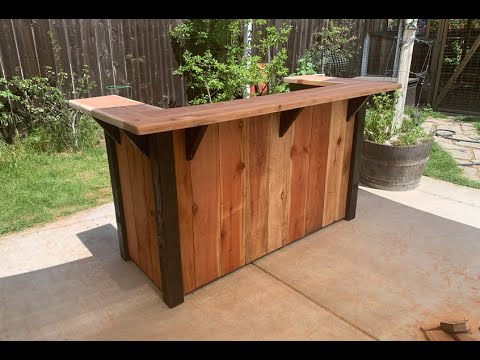 Outdoor/Patio Bar DIY // Outdoor Living