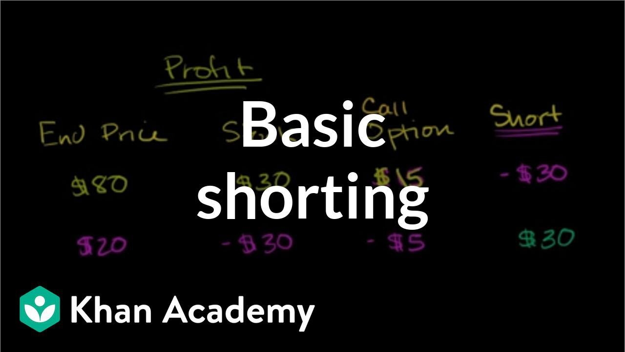 Basic shorting | Stocks and bonds | Finance & Capital Markets | Khan Academy - YouTube