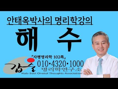 해수(亥水)의 특성과 심리(지지)-자평명리학10