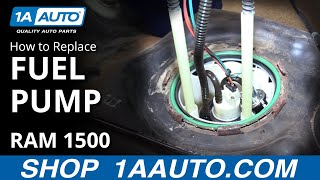 how to install replace fuel pump 26 gal gas tank 2008 dodge ram 1500 buy auto parts at 1aauto com