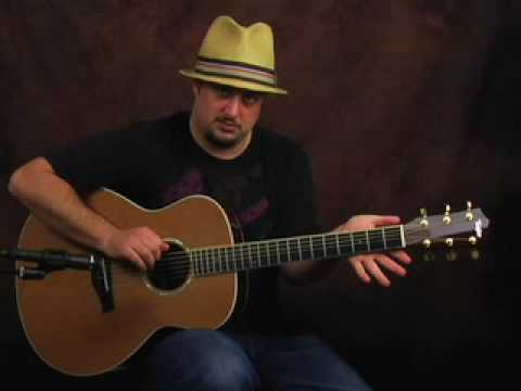 Learn Acoustic Guitar lesson embellish open cowboy chords - YouTube