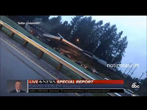 Amtrak derailment  Train crashes near Tacoma, Washington