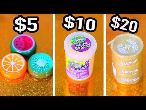 $5 vs $10 Vs $20 Slime & Putty from the Mall that I later found on Amazon for way cheaper