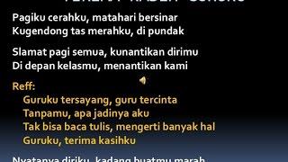 Lagu Wajib - Terimakasih Guruku + Lyric 2015 Terbaru