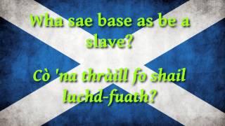 Schocha - Scots wha hae (lyrics)