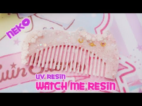 Watch me UV Resin: Neko Hair Comb DIY 🎀 Miwako🎀