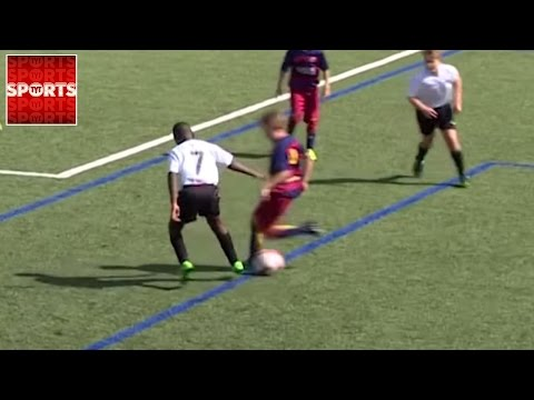 Little Messi-esque Kid Puts On RIDICULOUS Skill Move
