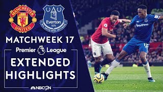 Manchester United v. Everton | PREMIER LEAGUE HIGHLIGHTS | 12/15/19 | NBC Sports Video