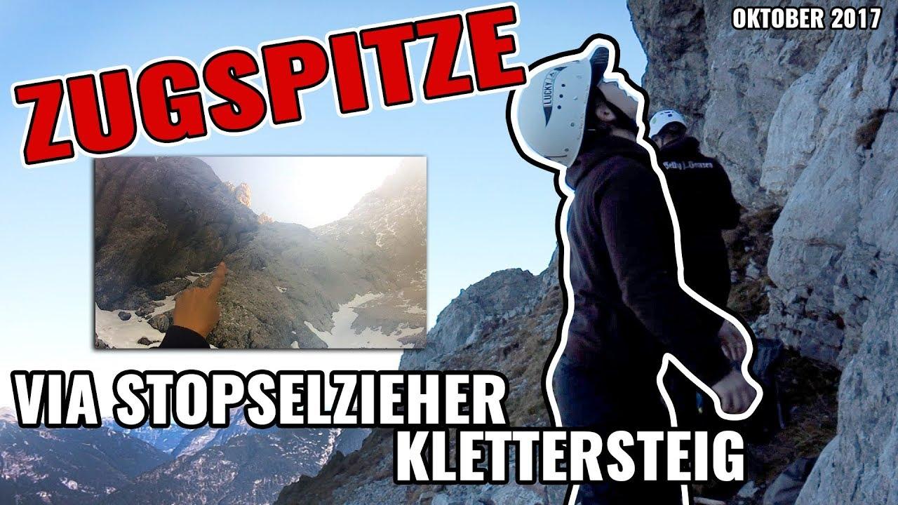 Klettersteig Ehrwald : Zugspitze via stopselzieher klettersteig im oktober youtube