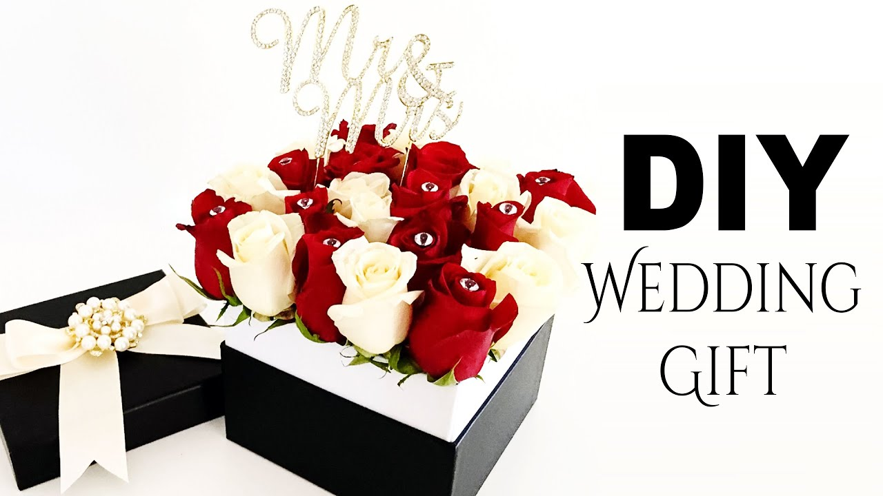 Diy Wedding Gift Box: DIY Elegant Roses Wedding Gift
