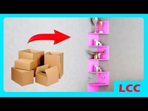 How To Easy Decoration Room With Used Cards Creative Craft Youtube
