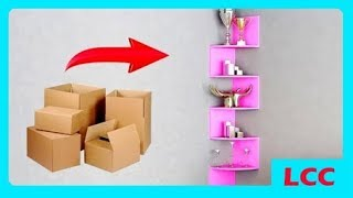 Video HOW TO EASY DECORATION ROOM WITH USED CARDS | CREATIVE CRAFT download MP3, 3GP, MP4, WEBM, AVI, FLV April 2018