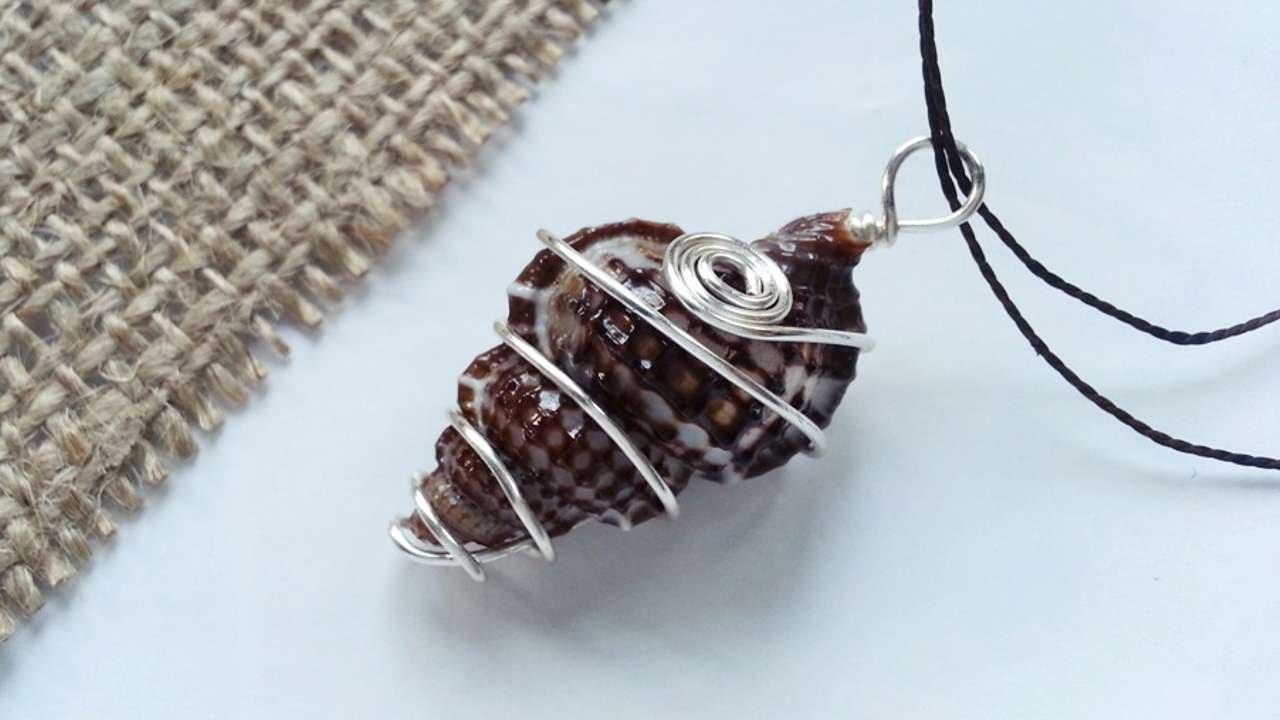 How to create wire wrapped sea shell pendant diy style tutorial how to create wire wrapped sea shell pendant diy style tutorial guidecentral youtube aloadofball Choice Image