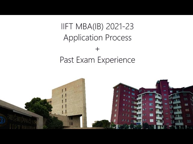 Application Guidelines and Exam Experience