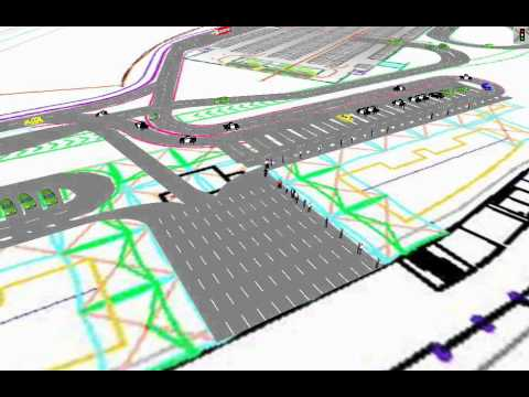 Circulation Plan 1 Ramp Option Simulation vehicles