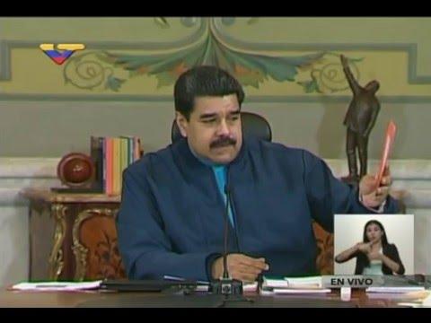 Presidente Nicolás Maduro tras reunión con Vicepresidencias Económicas en Miraflores