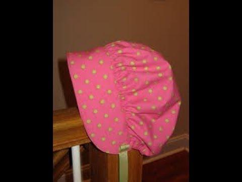 how to Sew Baby Bonnet Sun Bonnet diy baby bonnet tutorial Newborn baby  bonnet c32f962fbb4